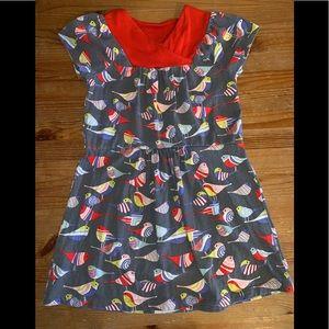 Tea Girls dress size 6 birds